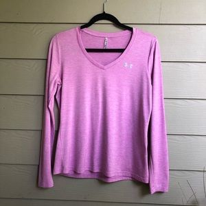 Under Armour | Long Sleeve V-Neck Top | M